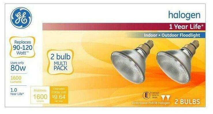 Energy-Efficient Halogen 90 Watt PAR38 Floodlight  2/Pack
