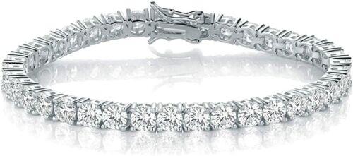 5ct/8ct/13ct/17 Moissanite Diamond Tennis Bracelet Sterling Silver 14k men women