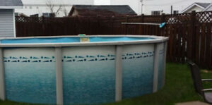 18 Foot resin above ground swimming pool