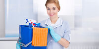 Offering cleaning services