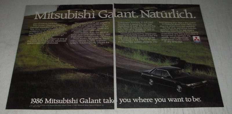 1986 Mitsubishi Galant Ad - Naturlich