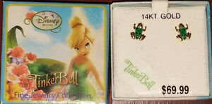 Tinkerbell Collection - 14KT Gold Frog Stud Earrings - NEW $70+ London Ontario image 2