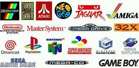 WANTED retro, snes, nes, mega drive, master system, Xbox PS1, PS2, game gear, gameboy