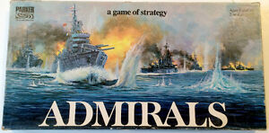 Vintage 1972 Parker Brothers Board Game- Admirals- wood pieces