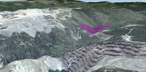 Similkameen River placer gold/platinum claim at Copper Mountain