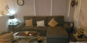 Ikea kivik sofa and chaise lounge