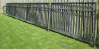 Fence - black powder coated