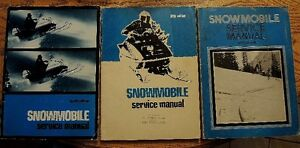 FOURTH FIFTH &SIXTH Edition Snowmobile Service Manuals