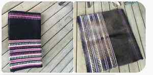 Reversible Western Saddle Pad Pink or Purple and Black