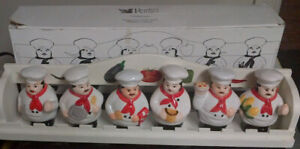 Spice Rack - 6 CHEF shaped bottles and Rack - set for $5.00