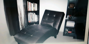 Chaise Lounge- Dark Brown- MOVING SALE- Like New
