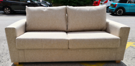Brand New Furniture Village 2 Seater Fabric Sofa Bed In Oatmeal RRP £1