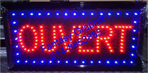 neon open ouvert led sign cafe bonzage ongles pancarte led