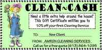 Amron Residental & Commercial full service cleaners