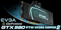 2 x GTX580 SLI Liquid Cooled Video Graphic Cards with sli bridge