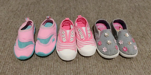 *3 Pairs Girls Shoes Size 6T Toddler*