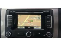 Genuine VW RNS310 Sat Nav SD Card Stereo CD Player 510 315 Golf Caddy T5 GTI R32 Skoda Passat Leon!!