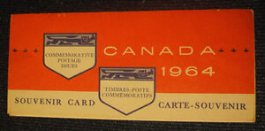 1964 Canada Commemorative Postage Issues Souvenir Card!!!!