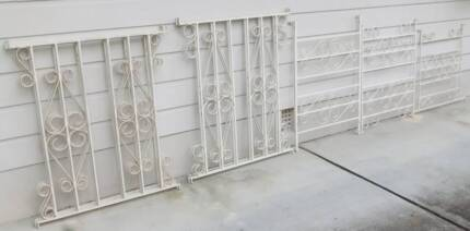 Wrought Iron Steel Security Grill Bar Panels 10 x White Grills Redcliffe Redcliffe Area Preview