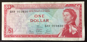 East Caribbean Currency Authority $1 Bank Note P13-d