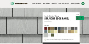 Unopened Pallet of Hardie Shingle Straight-Edge Panels (300sqft)