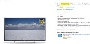 Sony 49-75 '' TVs for Sale!!