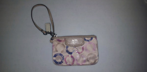 Pink /Purple /Beige Coach Wristlet (Used - Good Condition)