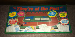 Vintage 1980's They're At The Post Horse Racing Boardgame NEW!!!