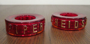 Vintage Piper-Heidsieck Champagne Glass Candle Stick Holders
