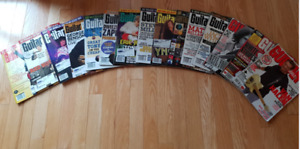 A Lot of Vintage Guitar Player and Guitar World Magazines