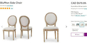 Set of 4 beautiful brand new dining chairs