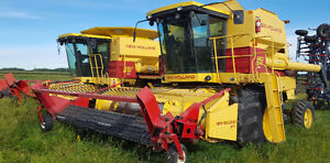NH TR 96 Combines and Flexi-Coil Cultivator for Sale