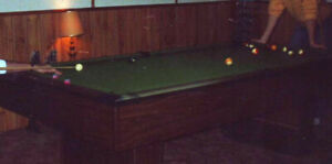 4x8 Slate Pool Table and all accessories