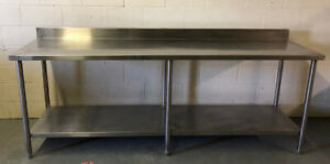Used Commercial Heavy Duty Stainless Steel 8ft Table