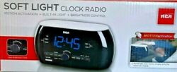 RCA RC220 Soft Light Alarm Clock Radio With Dual Wake