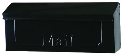Gibraltar THHB0001 Horizontal Wall Mount Mailbox, Galvanized Steel, Black