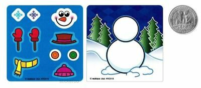 6 Make A Snow Man Stickers Winter Party Goody Bag Favor Supply Stocking - Stocking Stuffers Men