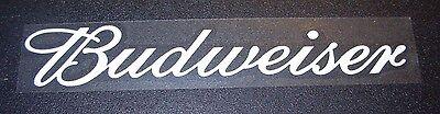 BUDWEISER White Banner Script Logo budweiser STICKER decal craft beer brewing