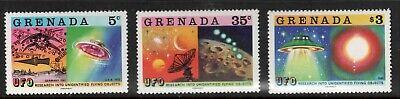 883-85 Rare 1978 Grenada UFO Research Alien Investigation Stamps seen on X-Files