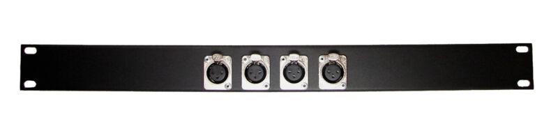 1U Procraft 4 Channel Female XLR Rack Panel     AFP1U-4XF-BK