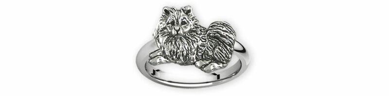 Keeshond Jewelry Sterling Silver Handmade Keeshond Ring  KSH1B-R