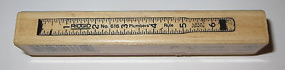 (Plumbers Rule Rubber Stamp Ridgid Ruler Joint Locks 7 Gypsies Construction Rare )