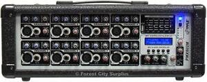 New - PYLE 8 CHANNEL POWERED MIXER - 800 WATTS PEAK WITH REVERB AND DELAY EFFECTS AND USB INPUT !!
