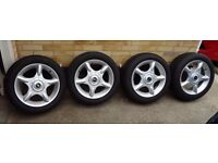 """BMW Mini One, Cooper, Cooper S 4 x 16"""" Alloy Wheels with top quality brand tyres"""
