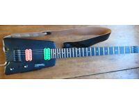 Black Steinberger Synapse SS-2F with customised Dimazio pickups