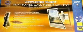 BTECH Flat Panel Wall Mount With Tilt - Silver