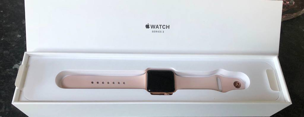 c016a07176118e Apple Watch Series 3 38mm Gold Aluminium Case with Pink Sand Sport Band  (GPS) -