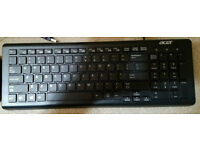 Acer Keyboard, Model SK-9626, USB Wired, New and boxed, unused