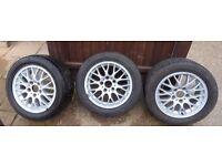 """3 x BMW 16"""" INCH ALLOY WHEEL 5x120 7JX16H2 1095058 VGC"""