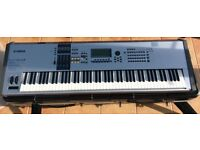 Yamaha Motif ES 8 workstation keyboard with hard case for sale